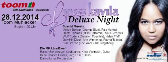 Miss Kavila Deluxe Night 28.12.14 - Banner
