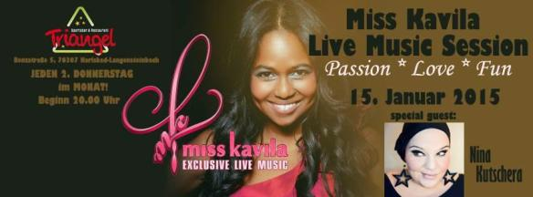 Miss Kavila Live Music Session - Banner