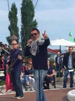 With Thomas Anders at ZDF Fernsehgarten